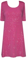 SOLD OUT!!!!!!!!!SALE! Pink or Fuschia Lightweight Customizable Glimmer Plus Size & Supersize Princess Cut A-Line Dresses & Shirts Lg XL 0x 1x 2x 3x 4x 5x 6x 7x 8x 9x