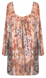 SOLD OUT!!!SALE! Pretty Paisley Slinky babydoll Plus Size Tops 4x