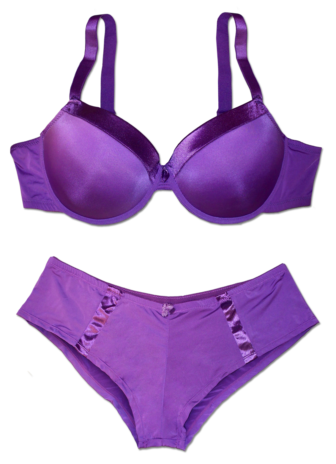 Sold out sale pretty purple or pink plus size bra underwear set 44d 4x - Outs longere ...