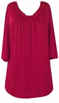 SOLD OUT!!!!!SALE! Red Cotton Lycra Half Sleeve Babydoll Top 4x