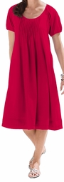 SOLD OUT!!!!!!!!!! SALE! Red Red Petite Plus Size Trapeze Dress with Pintucking 6x
