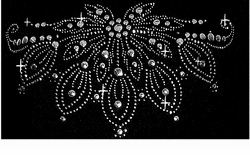 SOLD OUT! SALE!  Rhinestone Neckline Plus Size T-Shirt 5x