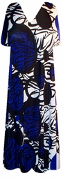 SOLD OUT! Sale! Royal Blue Zebra Print Summer Slinky Plus Size SuperSize Dress 7x