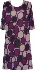 SOLD OUT!!!!!!!!!!!!!!SALE! s6053 Purple & Lavender Circles Plus Size & Supersize T-Shirts 0x