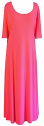 CLEARANCE! Salmon Slinky Princess Cut Short Sleeve Plus Size & Supersize Dresses 4x