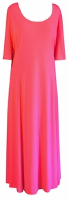 SOLD OUT! CLEARANCE! Salmon Slinky Princess Cut Short Sleeve Plus Size & Supersize Dresses 4x