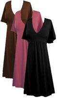 SOLD OUT!!!!!!!!!!!!!!!!!!!!!!!!!SALE! Sexy! Beautiful Black Brown Pink Red or Teal Slinky Babydoll Plus Size Dresses 4x 5x
