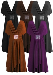 SOLD OUT!!!!!!!!!!!!SALE! Sexy! Beautiful Black Charcoal Brown or Rust or Purple Slinky Rhinestone Plus Size Cocktail Dresses 4x 5x 6x