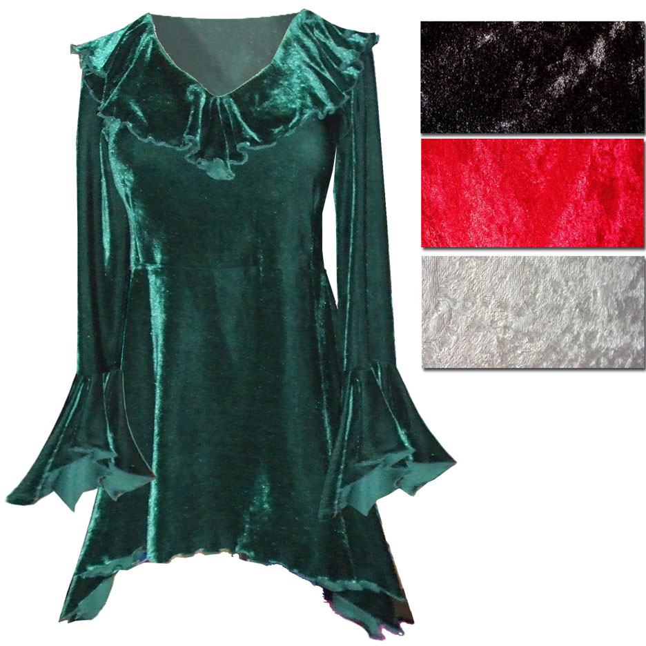 d74ee5d6ef1 SOLD OUT! SALE! Sexy Crushed Velvet Babydoll Ruffle Plus Size ...