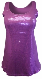 SOLD OUT!!!!!!!!! SALE! Sparkly Purple Magenta Sequins Plus Size Tank Top T-Shirt 26/28 3x 4x