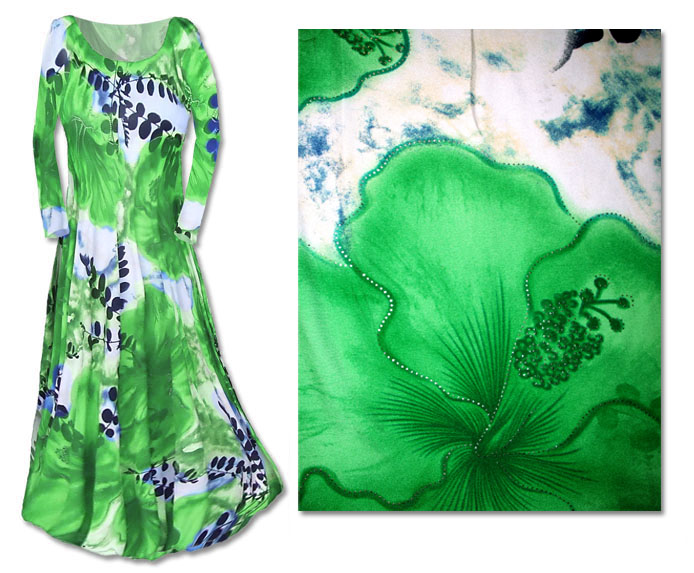 2ca1c286a65 SOLD OUT!!!!!!!!!!!!!!!SALE! Stunning Green Slinky Abstract Leaves Print Plus  Size   Supersize Dresses 3x 4x