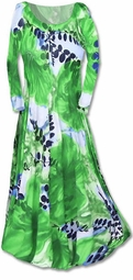 SOLD OUT!!!!!!!!!!!!!!!SALE! Stunning Green  Slinky Abstract Leaves Print Plus Size & Supersize Dresses 3x/4x