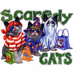 SOLD OUT!!!! Scaredy Cats Halloween Puff Plus Size & Supersize T-Shirts  S M L XL 2x 3x 4x 5x 6x 7x 8x (All Colors)