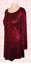 SOLD OUT! Shimmering Fuschia Glittery Plus Size Extra Long Shirt/Dress Plus Size & Supersize XL 2x 4x