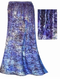 SOLD OUT!!! Shimmering Purple Tiedye Crush Velvet Skirts Plus Size Supersize 0x