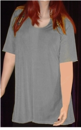 SOLD OUT! Silver Gray Slinky Plus Size Supersize Short Sleeve Shirt 6x/7x