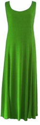 SOLD OUT! Solid Green Poly/Cotton Plus Size & Supersize Princess Cut Tank Dresses 7x