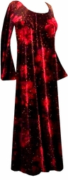 SOLD OUT! Stunning Black & Red Roses Glittery Velvet Plus Size & Supersize Customizable Dresses, Shirts or Jackets Lg to 9x