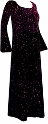 SOLD OUT! Stunning Black Velvet & Pink Glitter Plus Size & Supersize Customizable Dresses, Shirts or Jackets Lg to 9x