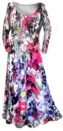 SOLD OUT!!!!Stunning Pink & Black Graphic Print Slinky Plus Size & Supersize Customizable Dresses, Shirts, Jackets, Pants  or Skirts Lg to 8x