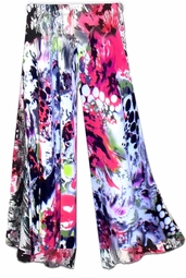 SOLD OUT!!!!! Stunning Pink & Black Graphic Print Slinky Plus Size & Supersize Customizable Pants 8x - TALL