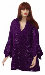 SOLD OUT! Stunning Purple Glimmer Shirt - Plus Size & Supersize Lg XL 0x 1x 2x 3x 4x 5x 6x 7x 8x 9x
