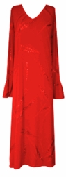 SOLD OUT!  Stunning Red Leaves Glittery Plus Size & Supersize Dress - Shirt - Jacket Sizes Lg Xl 0x 1x 2x 3x 4x 5x 6x 7x 8x