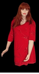 SOLD OUT! Stunning Red Leaves Glittery Plus Size & Supersize Shirt  Large XL 0x 1x 2x 3x 4x 5x 6x