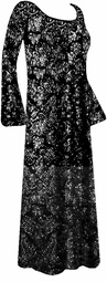 SOLD OUT! - Substitute 1165 - Gorgeous Black & Silver Glittery Plus Size & Supersize Customizable Evening Dress Shirt or Jacket Lg to 9x