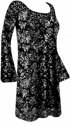 SOLD OUT! Substitute 1165 - Gorgeous Black & Silver Glittery Plus Size & Supersize Customizable Evening Shirt or Jacket Lg to 9x
