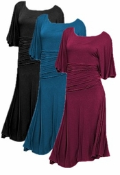 SOLD OUT!!!!!!!!!!!Teal Gathered Waist Plus Size Dress 3x