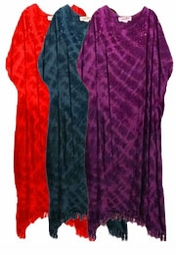 SOLD OUT! Tiedye Embroidered Sequins Rayon Plus Size & Supersize Caftan Dress 1x to 6x