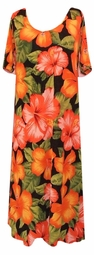 SOLD OUT! Tropical Flowery Plus Size Slinky Dress, Shirt, or Jacket - Customizable! Lg to 9x