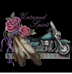 SOLD OUT!!!Untamed Spirit Motorcycle Feather Roses Plus Size & Supersize T-Shirts S M L XL 2x 3x 4x 5x 6x 7x 8x