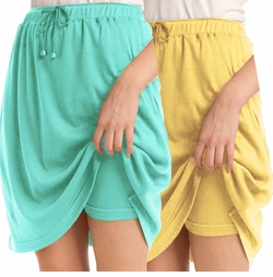 SOLD OUT!!!! Yellow or Aqua Sport Knit Plus Size Skort 6x
