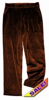 CLEARANCE! Yummy Soft Dark Brown Velvety Velour Plus Size Pull-On Pants Sizes 1x 2x