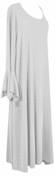 SOLDOUT!!!!CLEARANCE! Beautiful! Gray & Silver Shimmer Extra Long Plus Size SuperSize Cascading Dress