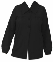 SOLDOUT!!!CLEARANCE! Black Long Sleeve Knit Plus Size Swing Jacket