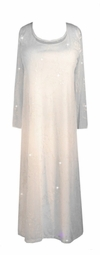 SOLDOUT!!CLEARANCE! Stunning Off White Glittery 2pc Dress Plus Size & Supersize