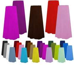 Solid Color Slinky or Velvet Plus Size Skirts - Customizable! Plus or Supersize Lg XL 0x 1x 2x 3x 4x 5x 6x 7x 8x 9x
