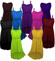 CLEARANCE! Solid Color Slinky Strapped or Strapless Cascading Plus Size Top 3x