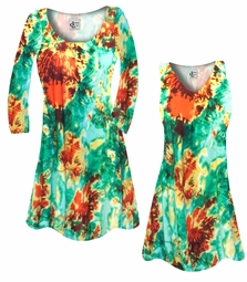 SALE! Customizable Red, Yellow, & Green Tie Dye Slinky Print Plus Size & Supersize Short or Long Sleeve Shirts - Tunics - Tank Tops - Sizes Lg XL 1x 2x 3x 4x 5x 6x 7x 8x 9x