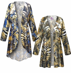 SOLD OUT! SALE! Customizable Metallic Zebra Slinky Print Plus Size & Supersize Jackets & Dusters - Sizes Lg XL 1x 2x 3x 4x 5x 6x 7x 8x 9x