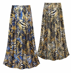 CLEARANCE! Metallic Zebra Slinky Print Plus Size Skirt LG