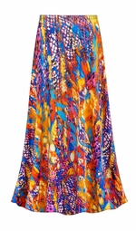 SOLD OUT! SALE! Customizable Color Infusion Slinky Print Plus Size & Supersize Skirts - Sizes Lg XL 1x 2x 3x 4x 5x 6x 7x 8x 9x