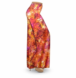 SALE! Customizable Orange Crackle Slinky Print Plus Size & Supersize Palazzo Pants - Tapered Pants - Sizes Lg XL 1x 2x 3x 4x 5x 6x 7x 8x 9x