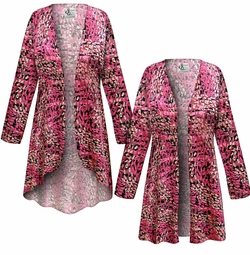 SALE! Customizable Raspberry Fields Slinky Print Plus Size & Supersize Jackets & Dusters - Sizes Lg XL 1x 2x 3x 4x 5x 6x 7x 8x 9x