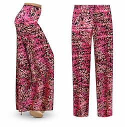 SOLD OUT! SALE! Customizable Raspberry Fields Slinky Print Plus Size & Supersize Palazzo Pants - Tapered Pants - Sizes Lg XL 1x 2x 3x 4x 5x 6x 7x 8x 9x