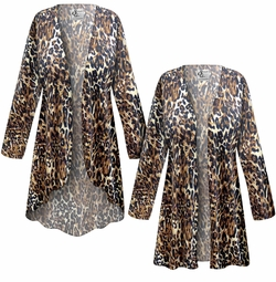 SALE! Customizable Black & Brown Animal Slinky Print Plus Size & Supersize Jackets & Dusters - Sizes Lg XL 1x 2x 3x 4x 5x 6x 7x 8x 9x