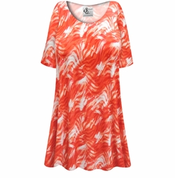SALE! Customizable Orange Wavy Abstract Slinky Print Plus Size & Supersize Short or Long Sleeve Shirts - Tunics - Tank Tops - Sizes Lg XL 1x 2x 3x 4x 5x 6x 7x 8x 9x